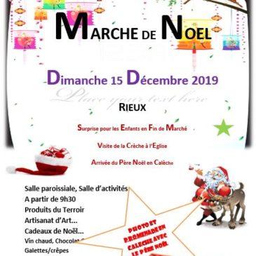 Marché Noël Rieux